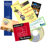brochure, letterhead, postcard, magazine ad, CD materials, voucher
